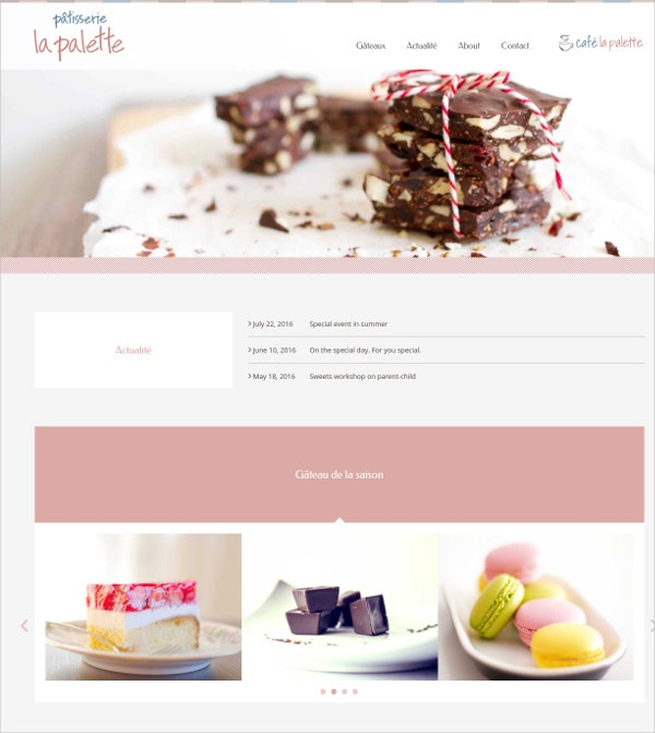 free bakery shop concrete5 theme