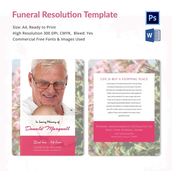 Funeral Resolution Memory Template