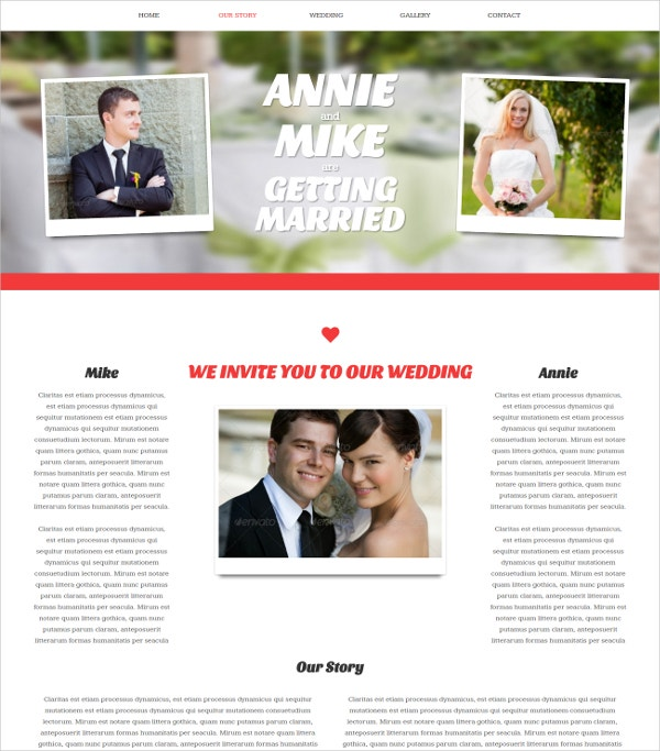 one page wedding event concrete5 theme 43