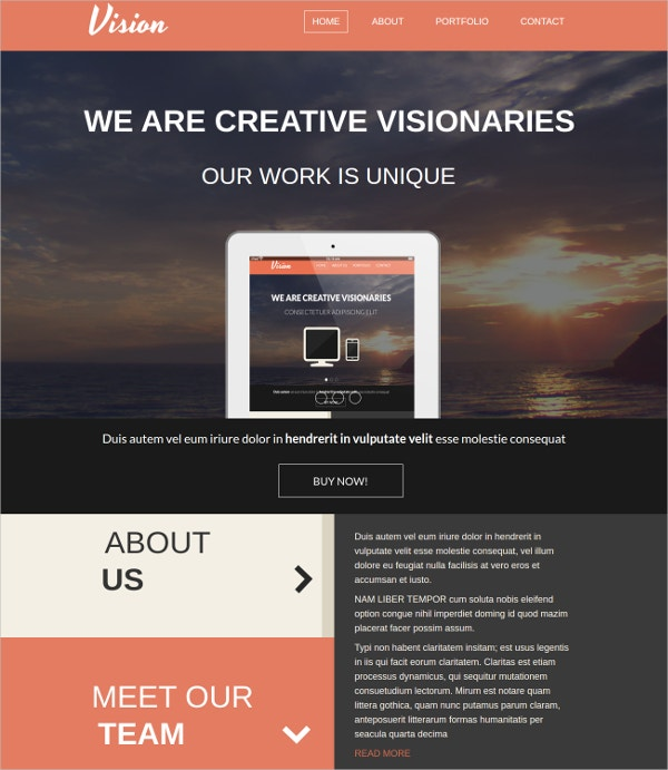 one page concrete5 portfolio theme 48
