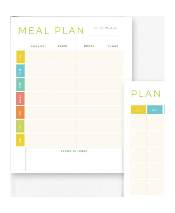 Weekly Meal Planner - 10+ Free Pdf, Psd Documents Download | Free