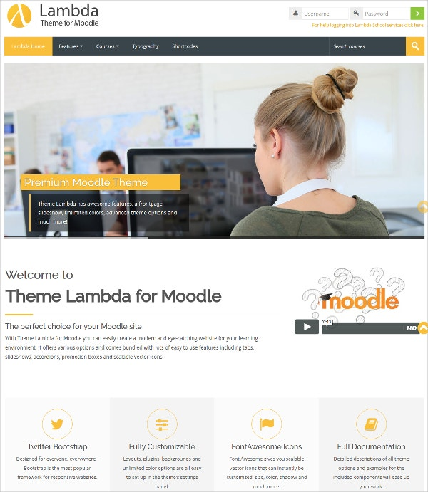 Education Learning Moodle Theme $44