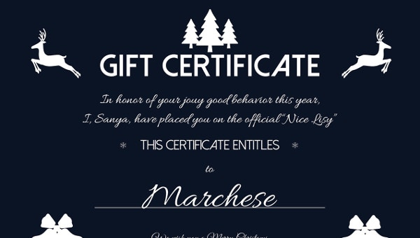 christmasgiftcertificatetemplates