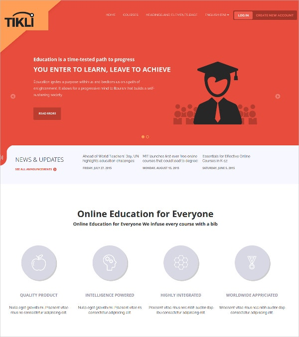 Online Education Moodle Theme $44