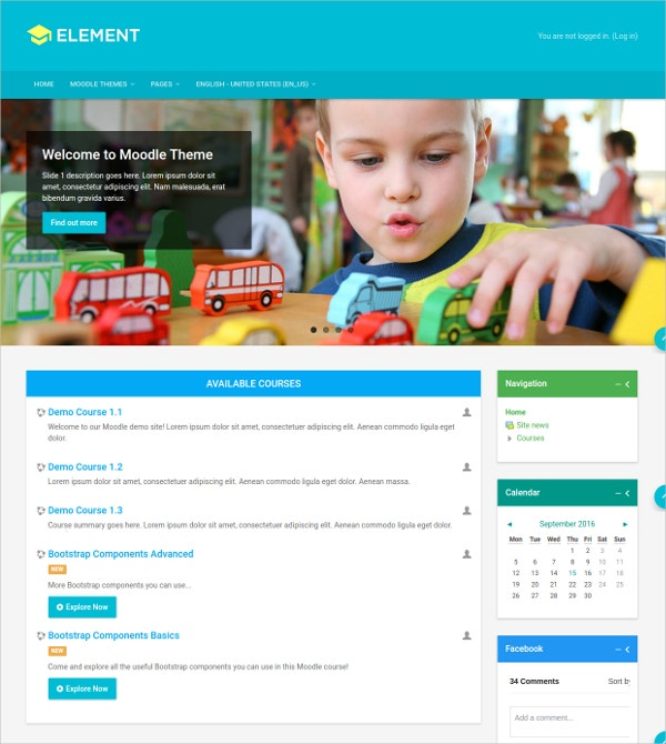 Children's Education Moodle Theme