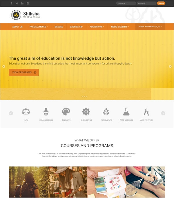 Training University Education Responsive Moodle Theme $44
