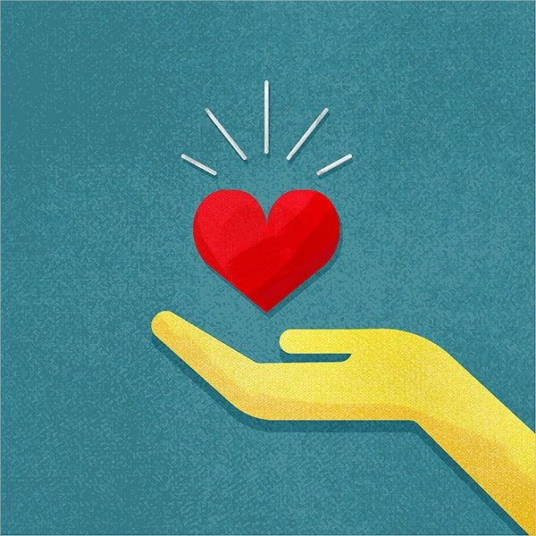 Hand Holding Heart Vector