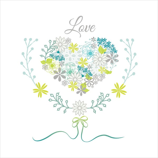flower vector heart