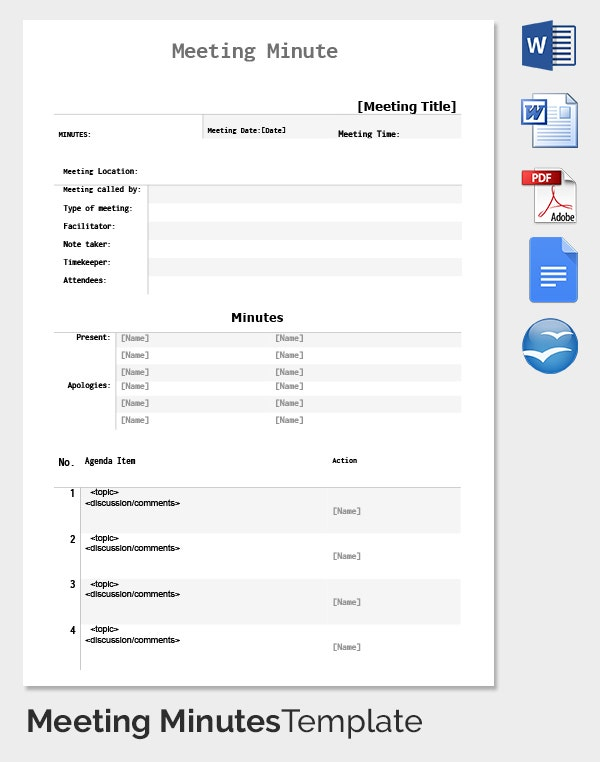 15 Meeting Minutes templates