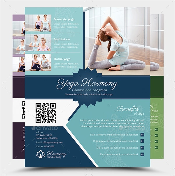 18 yoga flyer template free psd ai vector eps format for Yoga brochure templates