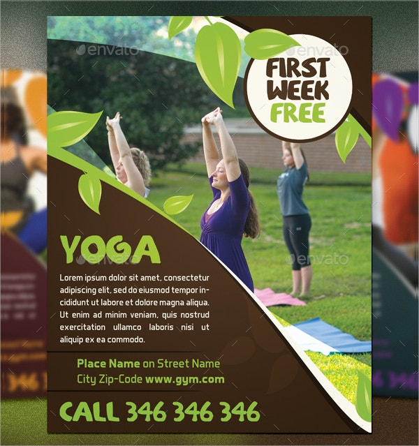 Nature Yoga Flyer Template