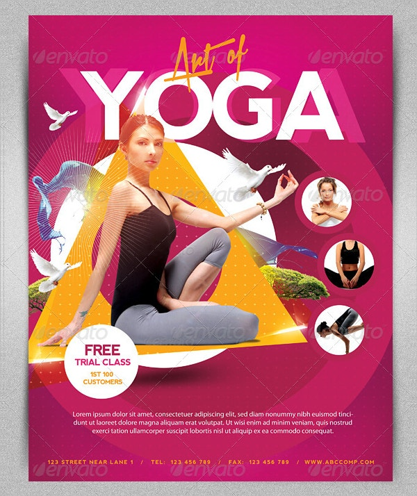 18+ Yoga Flyer Template - Free PSD, AI, Vector, EPS Format Download ...