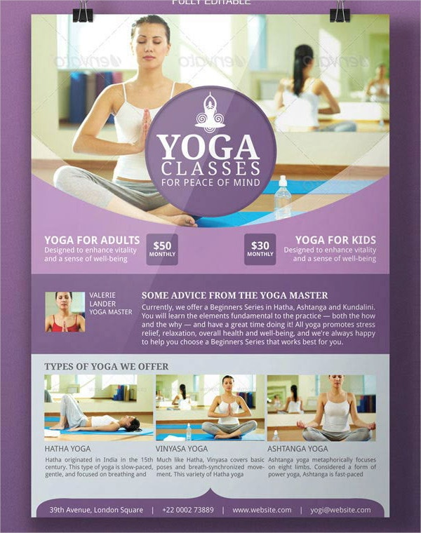 Yoga Flyer Design