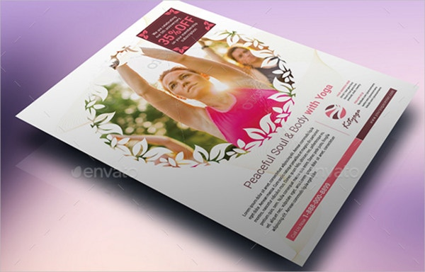 Feminine Yoga Flyer Template