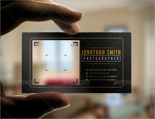 Stylish Transparent Business Card