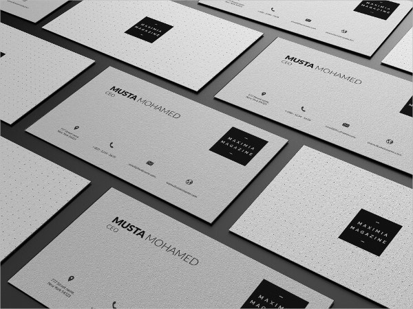 Clean Transparent Business Card