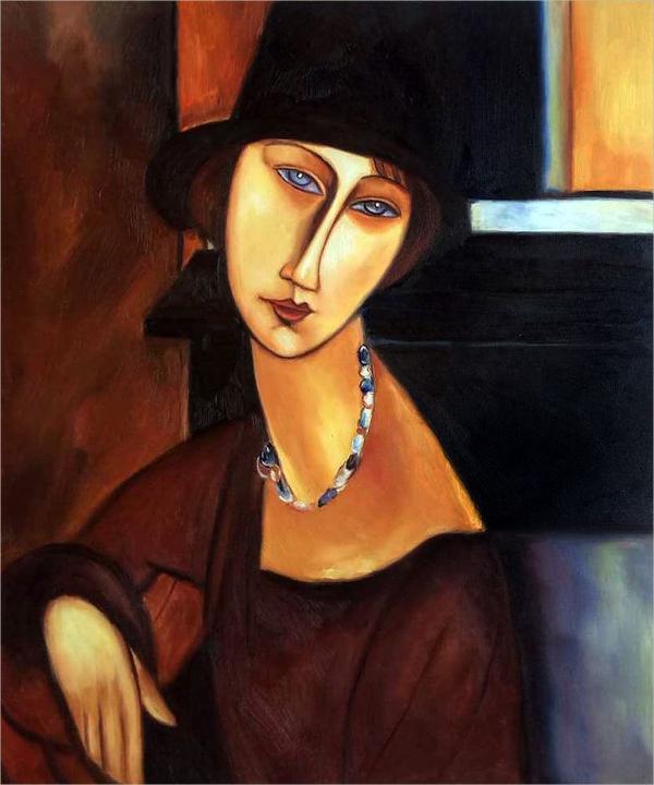 jeanne hebuterne art deco painting