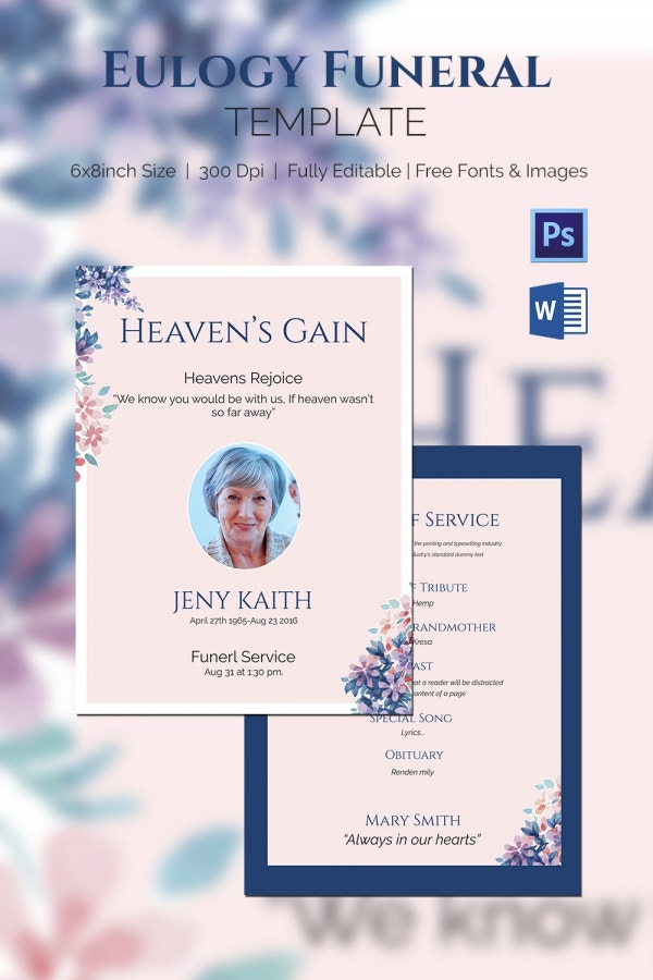 legacy eulogy funeral template