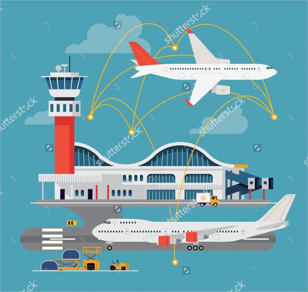 Airport Terminal with Control Tower