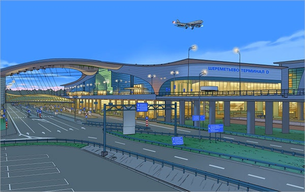 airport illo illustration