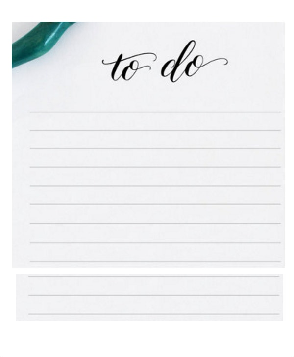 To Do List Template. Project Weekly To Do List Template Free