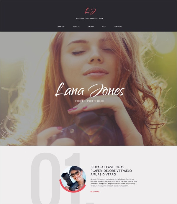 photographer portfolio blog drupal template 75