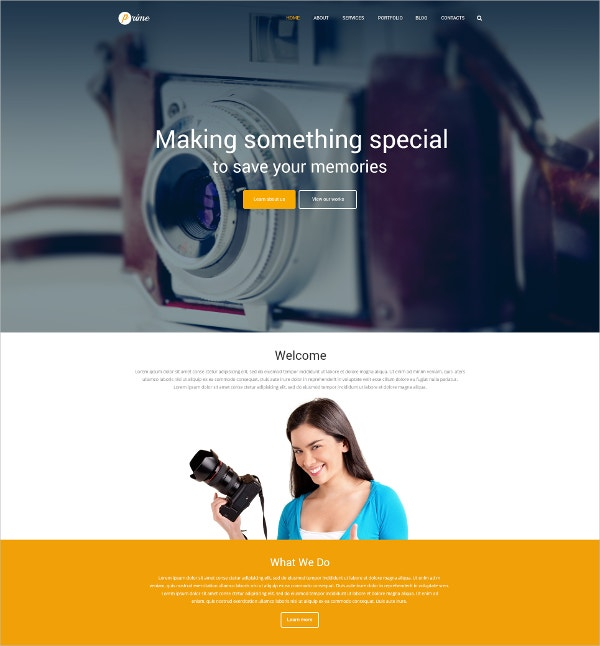 modern photographer portfolio blog wordpress theme 79