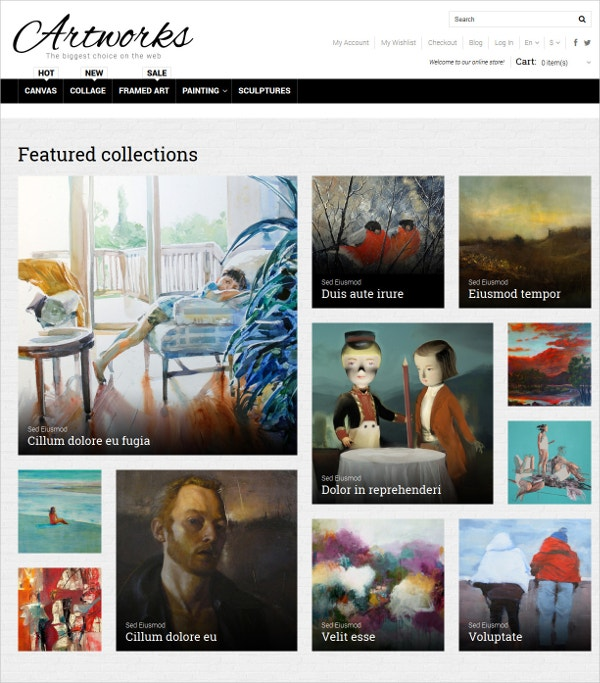 art store photography blog magento theme 179