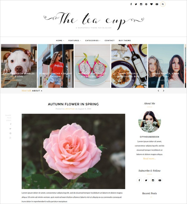 feminine photography wordpress blog theme 25