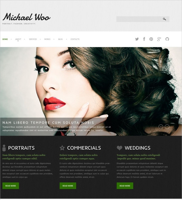 stylish photo blog portfolio joomla template 75