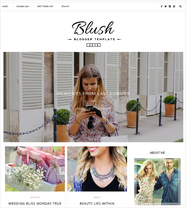 multipurpose photography blogger template