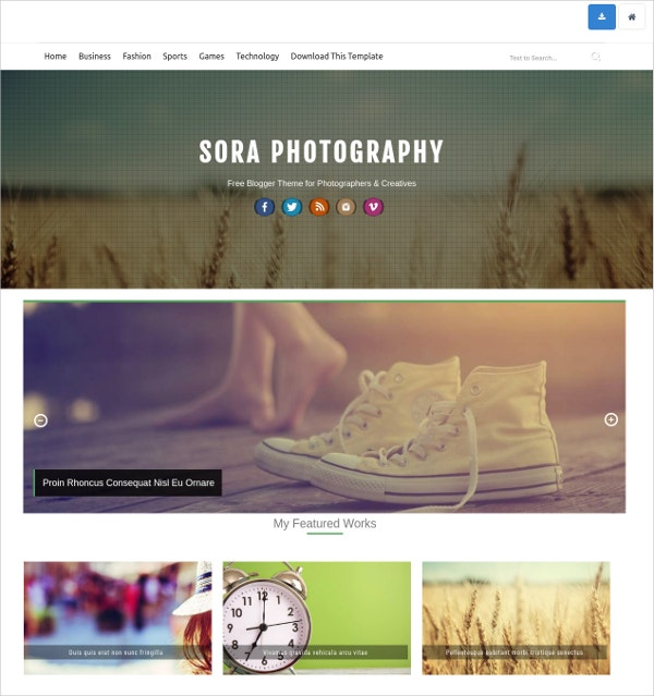awesome photography blog theme