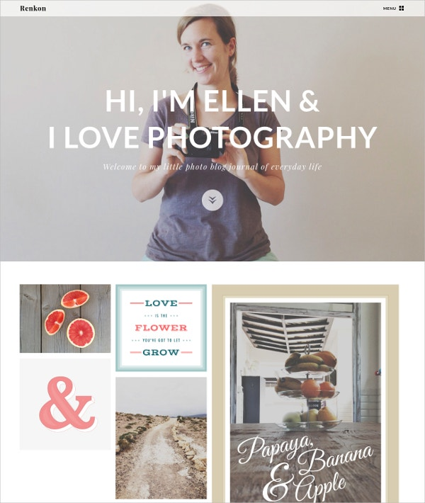 unique photography blog template