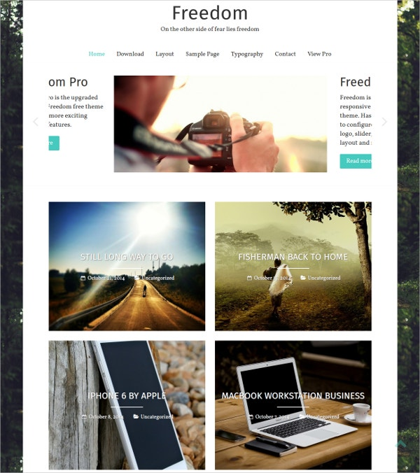 simple photography blog wordpress theme