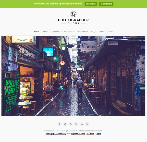 professional photography blog theme