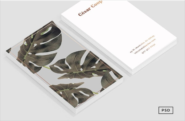 Bronze Metal Business Card Template
