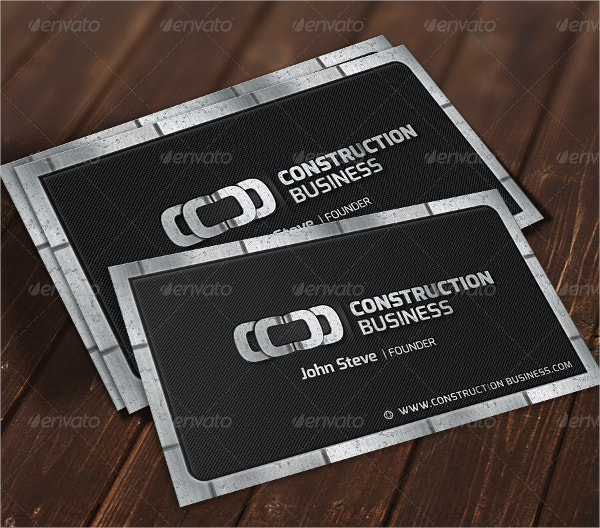 Metalic Construction Business Card