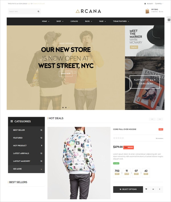 fashion Clothing Shopify Blog Theme $56