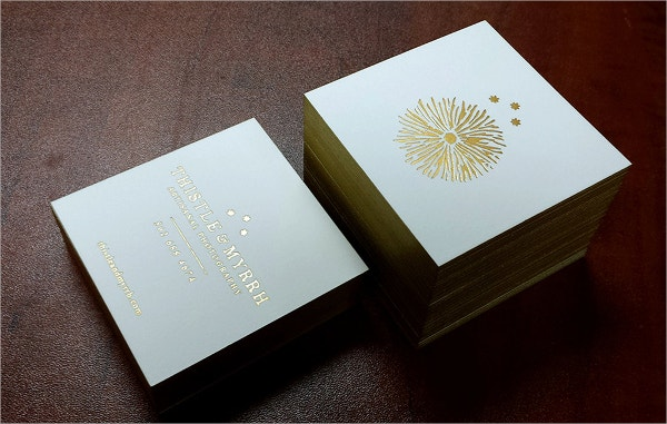 Party Debossed Business Card Template