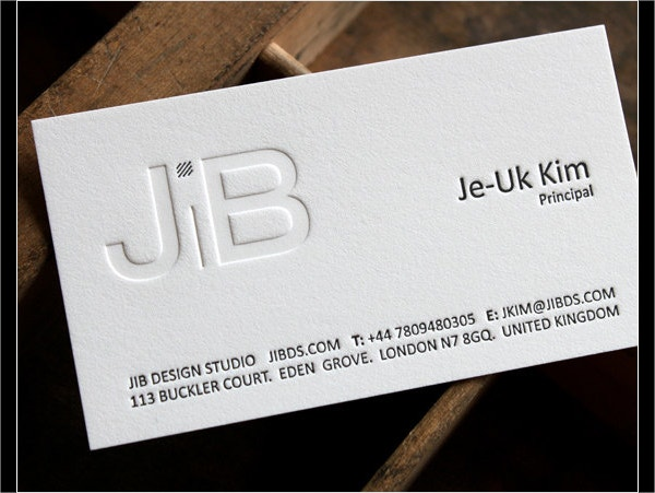 Letterpress Business Card Template