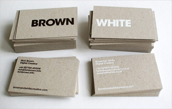 Brown & White Business Card