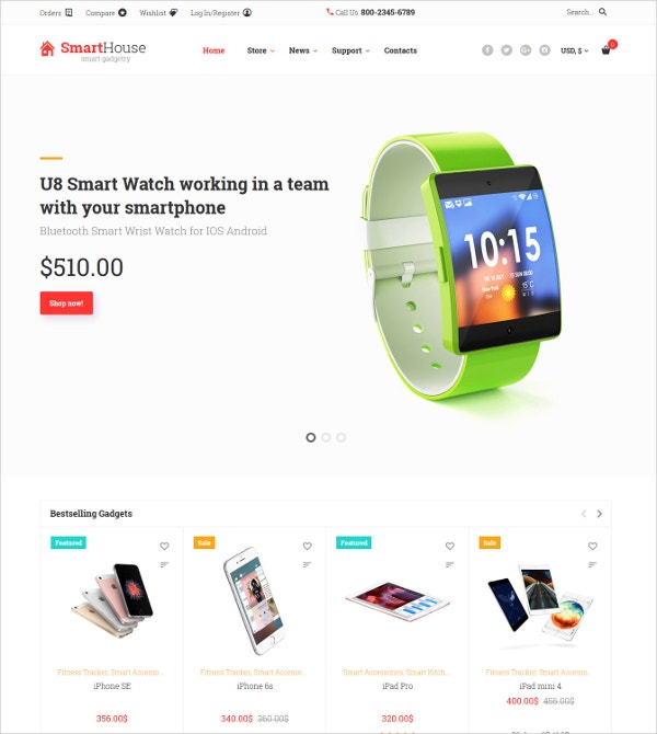 Electronic Devices, Accessories & Gadgets WooCommerce Theme $114