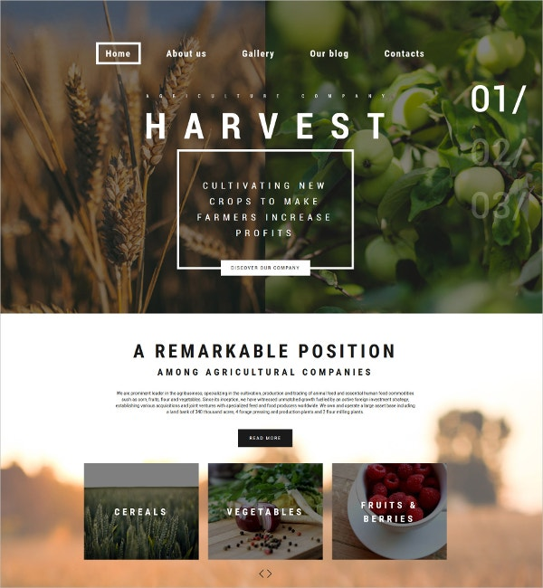 Agriculture Business WordPress Theme $75