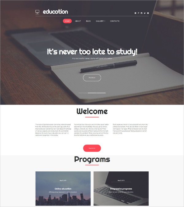 Unique Online Education WordPress Theme $75