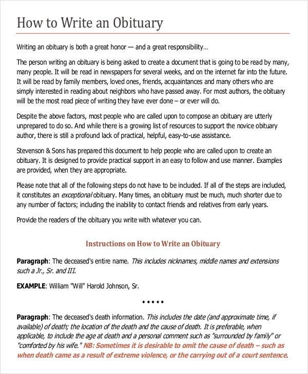 writing obituaries templates 9 obituary examples download in word pdf psd free