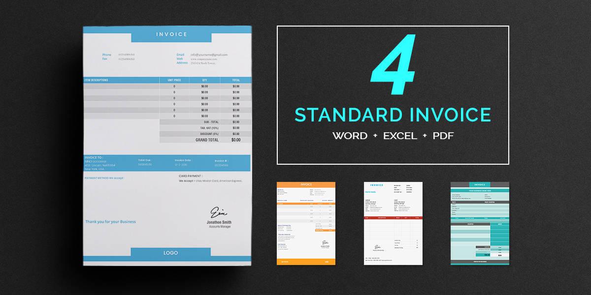 standard invoice templates