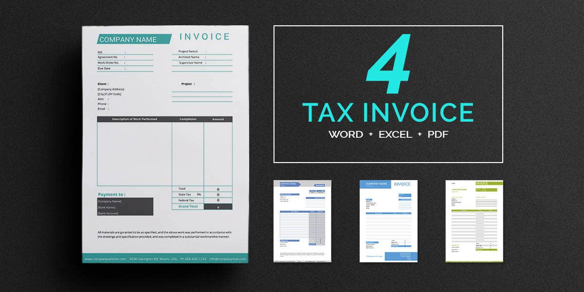 Tax Invoice Templates