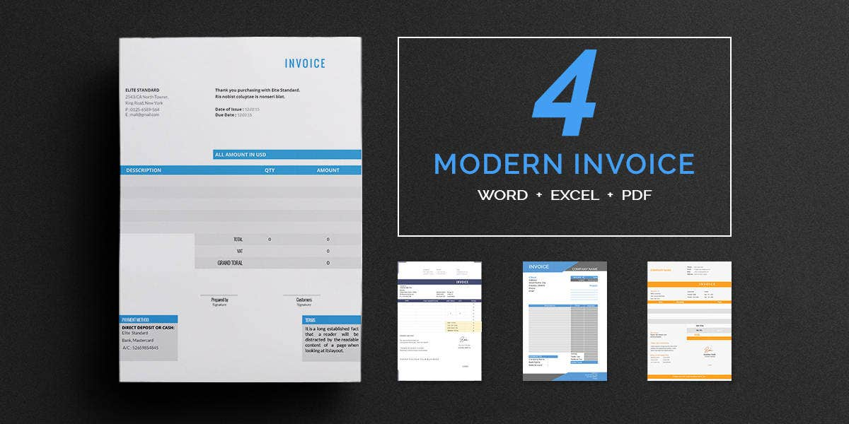 invoice template 43 free documents in word excel pdf