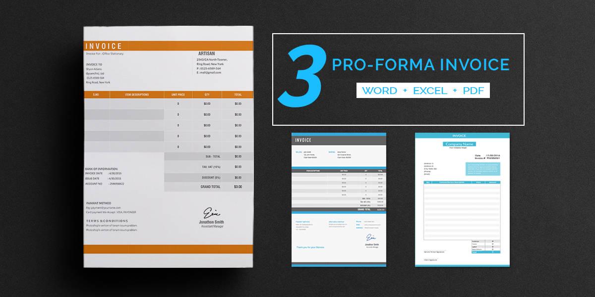 Pro-Forma Invoice Templates