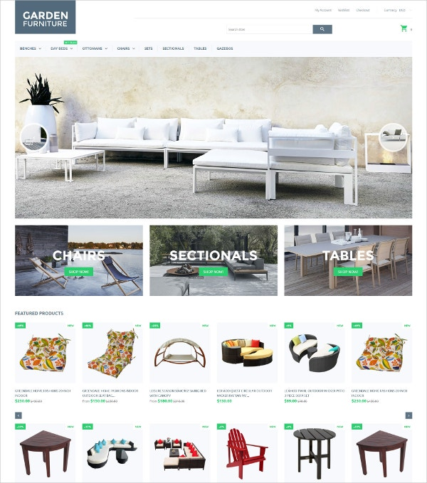 Garden Furniture & Tables Shopify Theme $139
